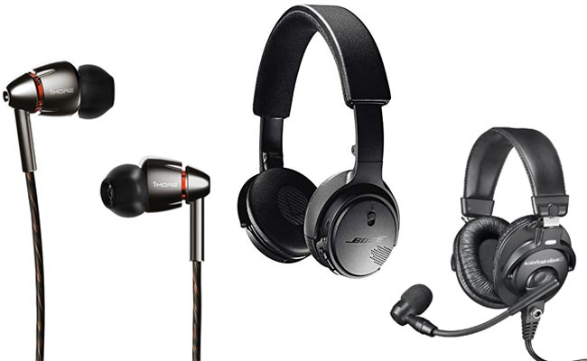 three types of headphones